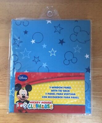 Mickey Mouse Clubhouse 1 Curtain Window Panel W/ Tie Back 41W X 63L • 10.42£