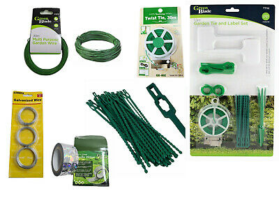 £4.25 • Buy Garden Plastic Plant Cable Adjustable Tree Climbing Support Tie Wire Labels Wire