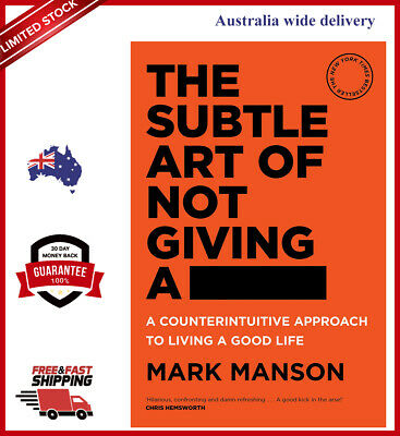 AU24.95 • Buy NEW The Subtle Art Of Not Giving A Fck F*ck F * Ck Fuck FAST By Mark Manson