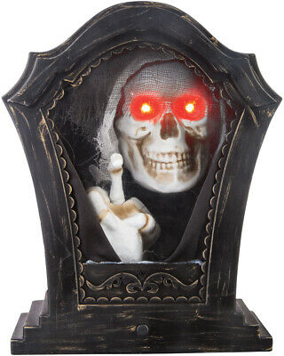 $ CDN46.14 • Buy Halloween Tombstone Tapping Skeleton Prop Decoration Haunted House