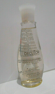 Decleor Cleansing Oil Face & Eye Area 250ml VGC 95% Remains Make Up Remover • 18£