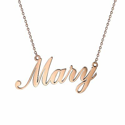 $10.99 • Buy Women's Stainless Steel Charm Unique Name Custom Pendant Necklace Chain For Gift