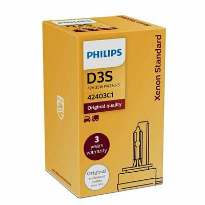 AU79.79 • Buy 1X Genuine PHILIPS HID D3S 42403C1 XENON 42V 35W 4200K Bulb Replace 42403 42302