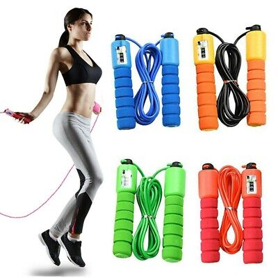 AU9.66 • Buy Digital Jump Rope Skipping Rope With Counter For Kids/Children & Adults Exercise