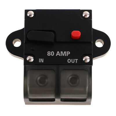 High Current 80 Amp 0 Or 4 Gauge Wire Awg Audio Circuit Breaker 12 Volt • 9.89£