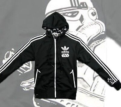 ADIDAS ORIGINALS STAR WARS STORMTROOPER TRACK TOP HOODY JACKET XL Extra Large • 74.95£