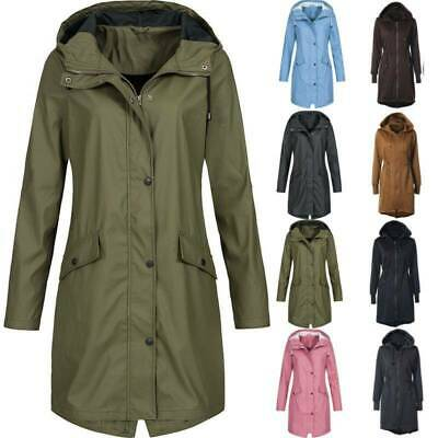 Womens Winter Parka Hooded Jacket Windproof Trench Coat Long Raincoat Plus Size • 18.61£
