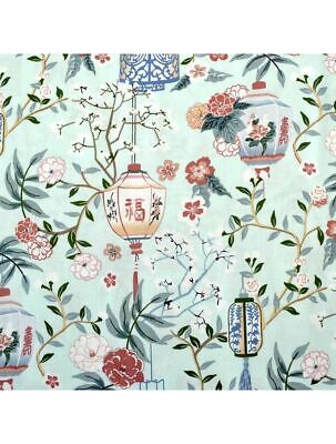 £3.50 • Buy Fabric Lovely Chinese Lanterns Michael Miller 100% Cotton 112cm Wide Mint Green