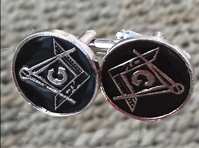 Masonic Emblem - Square & Compass Cufflinks. Brand New...nice Men / Womens Gift • 3.25£