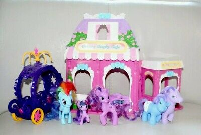 My Little Pony Hasbro Play Set Cotton Candy Cafe Carriage +6 Ponies Rainbow Dash • 15.99£