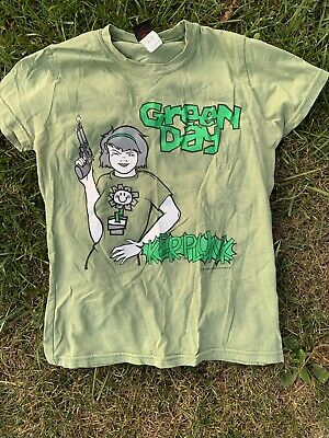 VTG Green Day 1992 Kerplunk TShirt Womens Small Cinderblock  • 46£