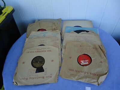 £24.39 • Buy 10 Vintage Antique Bakelite Gramophone Records 78 At The Woodchoppers Ball Etc
