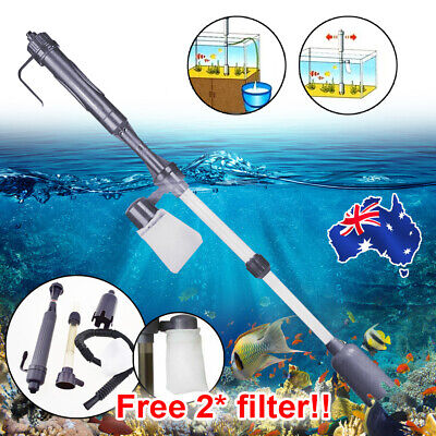 AU16.59 • Buy Electric Aquarium Fish Tank Cleaner Siphon Pump Water Change Gravel Vacuum Clean