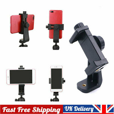 Universal Mobile Phone Clip Bracket Holder Mount For Phone Monopod Tripod Stand • 4.59£