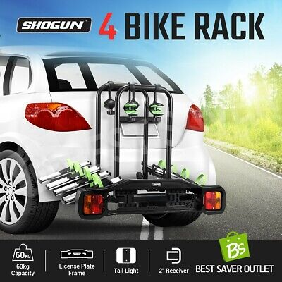 AU299.79 • Buy 4 Bike Car Carrier Towbar Bike Rack 2  Receiver Hitch Mount Bicycle Holder Steel