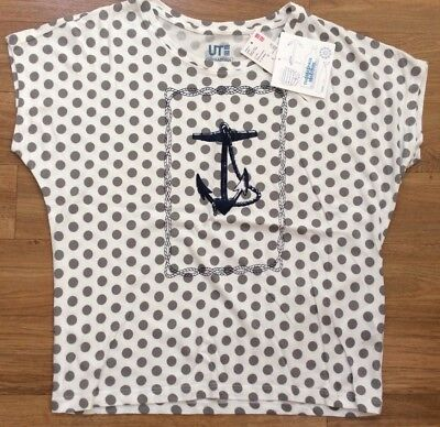 Uniqlo Thomas Paul Maritime  Anchor Graphic T Shirt Top Size XS • 12£