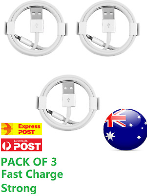 AU6.99 • Buy 3X Lightning Data Charger Cable Charging For Apple IPhone 12 7 8 X 11 6 5 IPAD