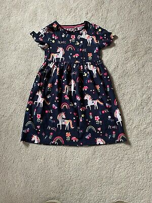 GIRLS BLUE ZOO UNICORN DRESS 5-6 Yrs • 7£