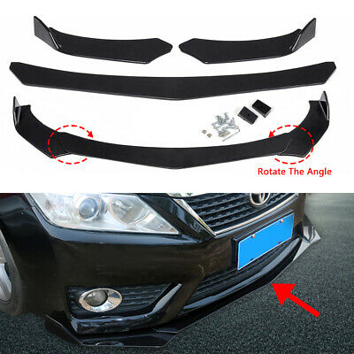 $56.99 • Buy Carbon Fiber Car Front Bumper Lip Lower Chin Splitter Universal Spoiler Body Kit