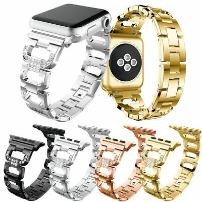 AU5.99 • Buy New Stainless Steel D Watch Band For Apple IWatch Series SE 6 5 4 3 2 1 40/44mm