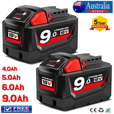 AU65.99 • Buy 18V Battery For Milwaukee M18 XC 9.0Ah Lithium 48-11-1890 48-11-1850 48-11-1828