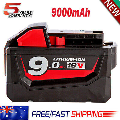 AU65.99 • Buy Upgraded For Milwaukee M18 9.0AH 18V Lithium Battery 48-11-1852 1828 48-11-1890