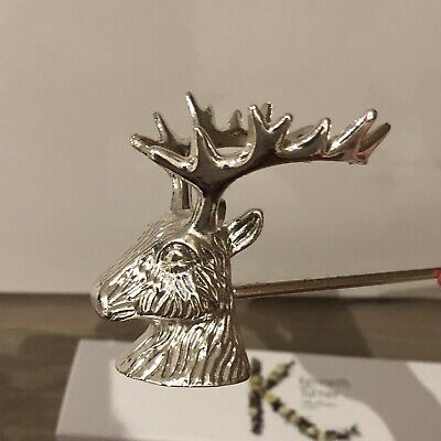 Kenneth Turner Large Stag Head Deer Candle Snuffer Silver Plated RRP £42 • 30£