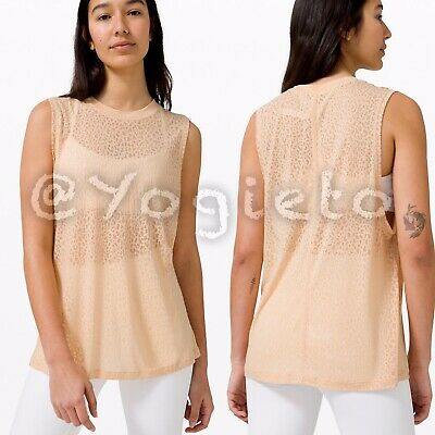 $ CDN77 • Buy Lululemon All Yours Boyfriend Tank 4 Veil City Camo Burnout Ivory Peach Shirt
