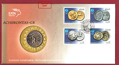 $ CDN65.90 • Buy Greece 2004. 2 Euro Olympic Coin And Ancient Coins Stamps. Excellent Condition.!