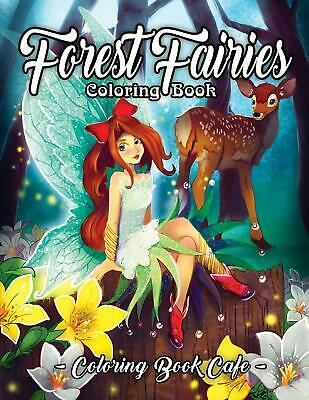 £9.98 • Buy Colouring Book Cafe Forest Fairies   Adult Colouring Book