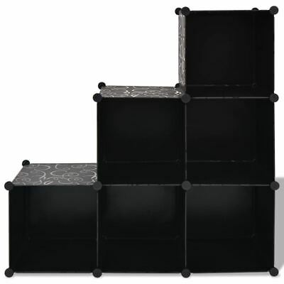 AU62.95 • Buy Cube Storage Unit Decorative Home Organiser Book Display Stand 6 Cubes Shoe Rack