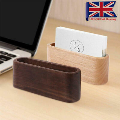 Wooden Business Card Holder Case Storage Card Box Office Name Card Display Stand • 5.37£