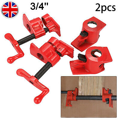 2 Pack 3/4  Wood Gluing Pipe Clamp Set Heavy Duty PRO Woodworking Grinding Tool • 15.49£
