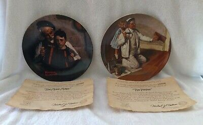 $ CDN19.71 • Buy Two Knowles Norman Rockwell Plates (the Music Maker #5888) (the Painter #18767k)