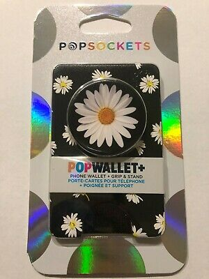 AU31.55 • Buy  AUTHENTIC PopSockets Popwallet Plus White Daisy Card Holder Phone Holder