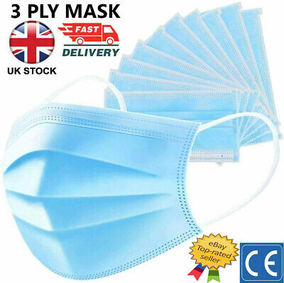 £3.79 • Buy 3 PLY Face Mask Disposable Respiration Surgical Mouth Cover Breathable Dust Mask