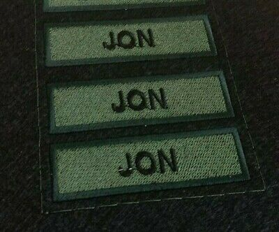 Custom Name Tag Tape Morale Patch With Your Letters 110x30mm • 7.99£