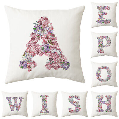 Uk Purple Letter Butterfly Cushion Cover Pillow Case Waist Throw Home Sofa Decor • 2.99£