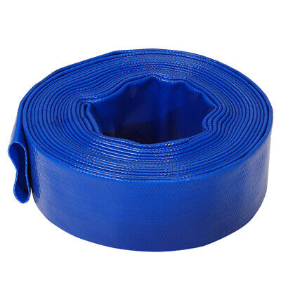£55.95 • Buy 25/32/38/50/75mm PVC Discharge Lay Flat Hose Pipe Pump Water Transfer Irrigation