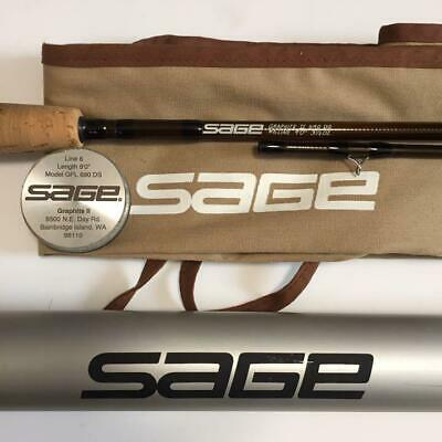 $380 • Buy SAGE GRAPHITE Ⅱ 690DS 9'0  #6 2Piece Fly Rod Fishing With Case F/S