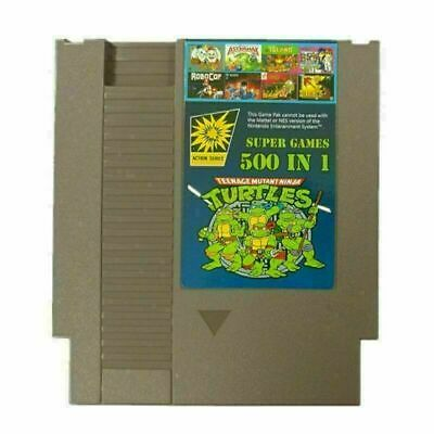 Super Games 500 IN 1 Games Card Collection Cartridge For NES Classic Consoles • 10.80£