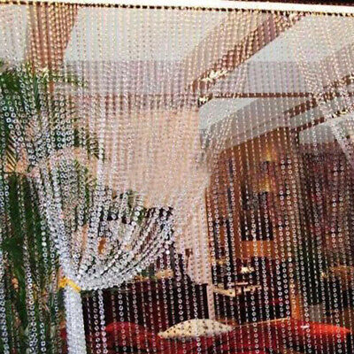 33ft99ft Octagonal Beads Crystal Glass String Hanging Wedding Door Curtain • 6.21£