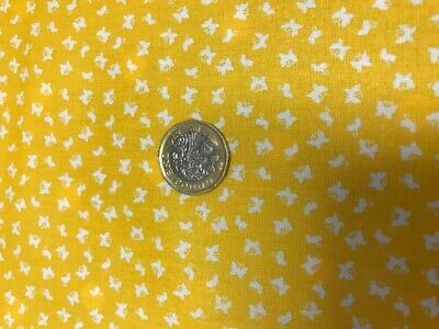 £3.50 • Buy Tiny Ditsy Butterfly Print 100% Cotton Poplin Fabric  Mustard Craft Quilting