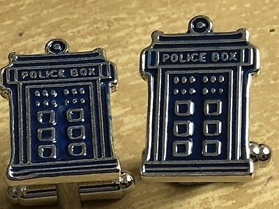 Doctor Who Tardis Cufflinks...brand New...nice Mens / Womens  Gift • 3.45£