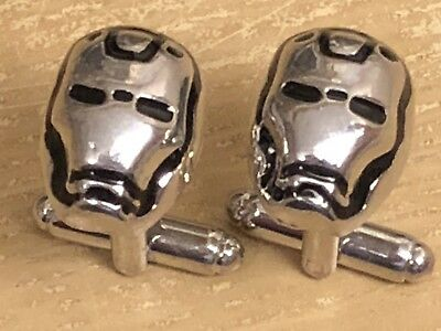 Superhero Ironman Cufflinks...brand New...nice Men's / Women's Gift • 3.45£