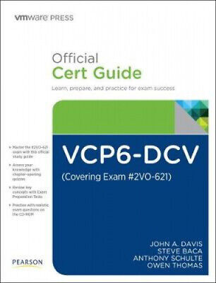 AU89.19 • Buy VCP6-DCV Official Cert Guide (Exam #2V0-621) (VMware Press Certification)