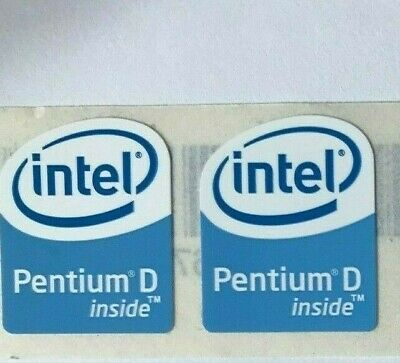 £3 • Buy 2 Intel Pentium D Inside Stickers 19 X 24mm Approx Case Badge For PC Computer