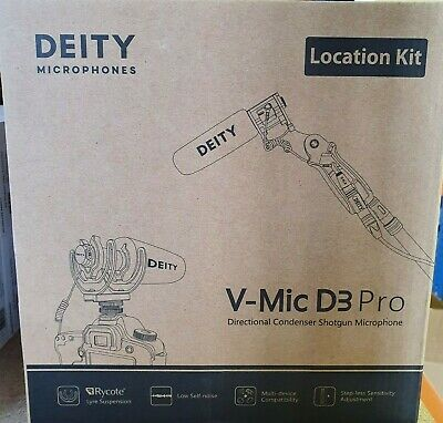 Deity V-Mic D3 Pro Location Kit Super-Cardioid Directional Shotgun Microphone UK • 249.95£