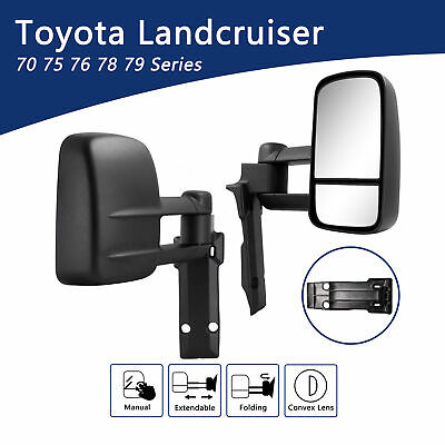 AU378.95 • Buy Towing Mirrors For Toyota LandCruiser 75-79 Series Extendable Manual Extension