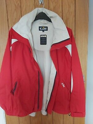 Gill Coast Lite Jacket Medium 2 Dot Waterproof Red And White NWOT • 50£